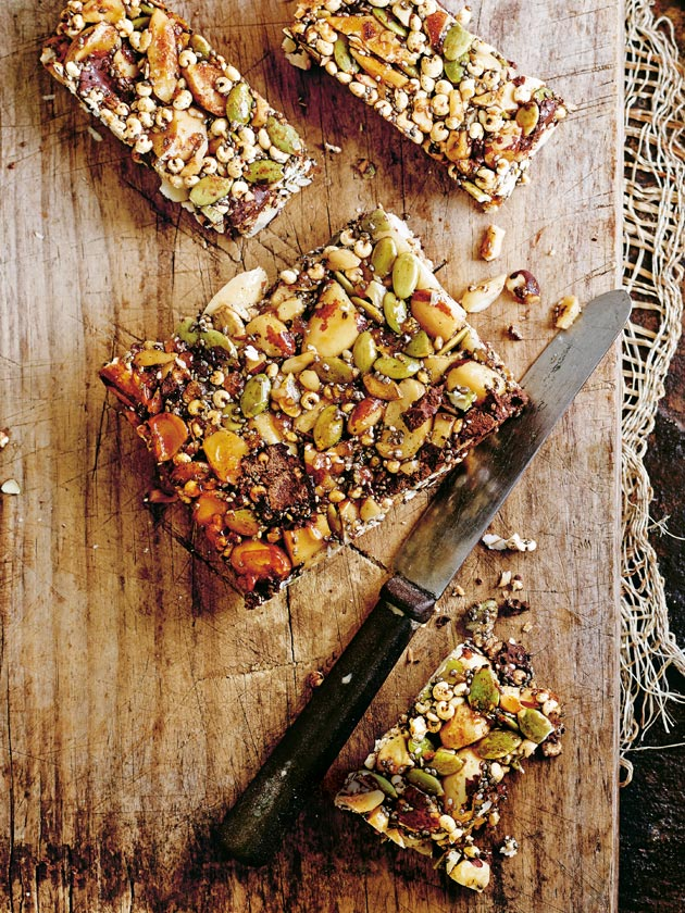 WHOLESOME BAKED TREATS CHOC NUT + CHIA SEED SLICE