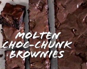 basics to brilliance: molten choc-chunk brownies